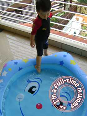 Ben with his new pool