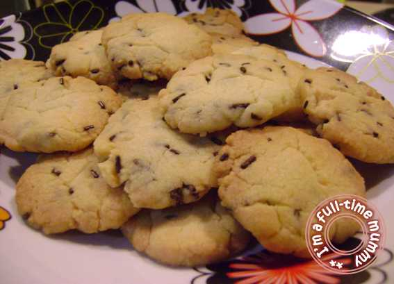 Shortbread Chocolate Chip Butter Cookies