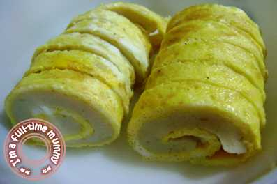full-time mummy | Steamed Fish Paste Egg Roll