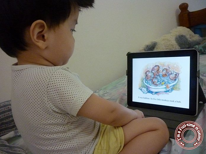 iPad app Review on Five Little Monkeys Jumping on the Bed